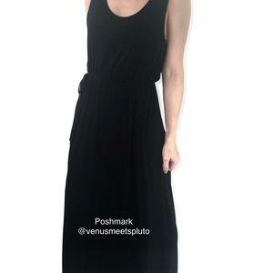 Nicole Miller New York Sz L Black Maxi Tank Dress